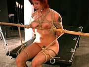 Bondage of masked slave