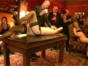 Public BDSM session