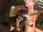 Stud slave gets tied up