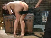 Girl ass fucked in hard bondage