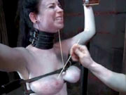 Sybil squeezed and tortured tits