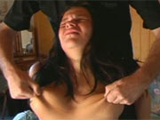Tits abuse and pussy spanking