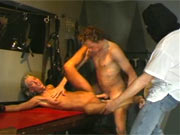 Threesome dungeon sex ordeal