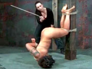 BDSM model in longtime bondage