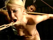 Girl gets shibari experience