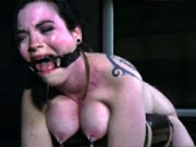 Sybil tied up and caned