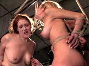 Two fucking bondage whores