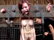 Girl in torture session