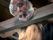 Cherie DeVille in breathplay action