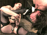 Claire Adames fucks her slave
