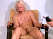 Gagged girl gets electro pain