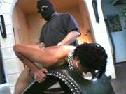 Master spanks his slave