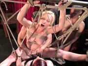 Bondage play with the disgrace of girl
