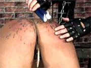 Waxing of subgirls ass